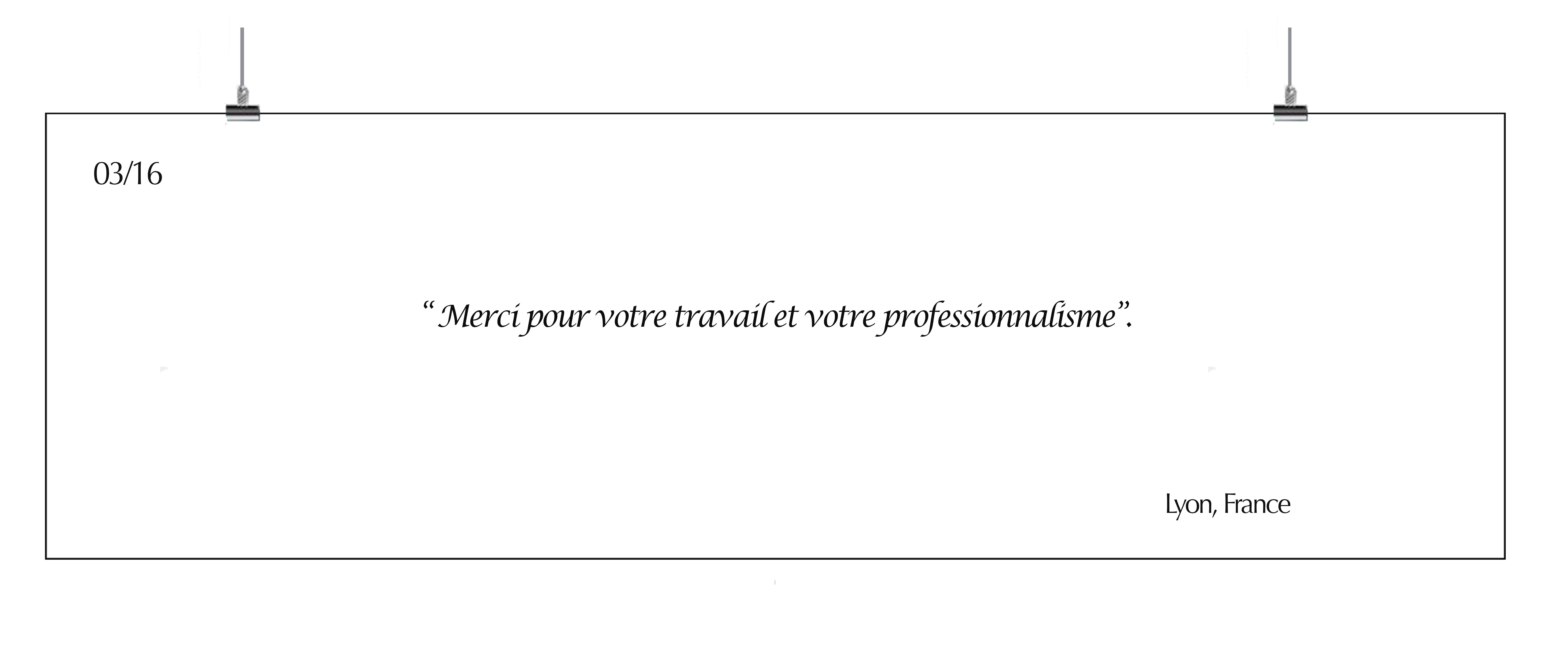 témoignage client Lyon france