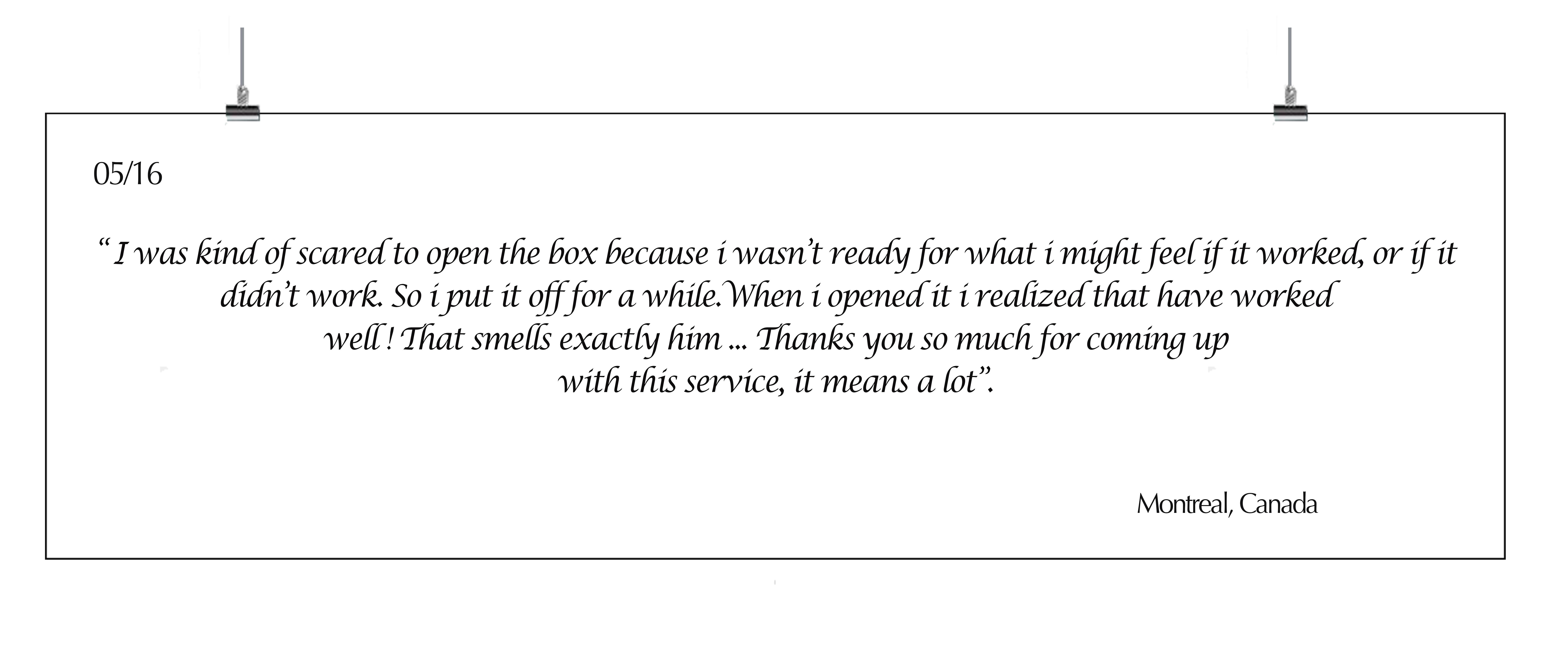 testimony customer